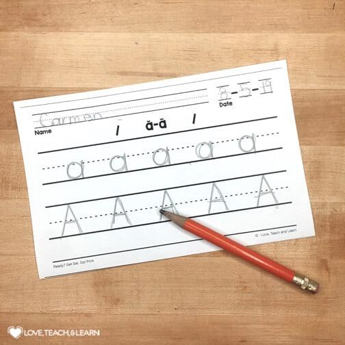 differentiate handwriting