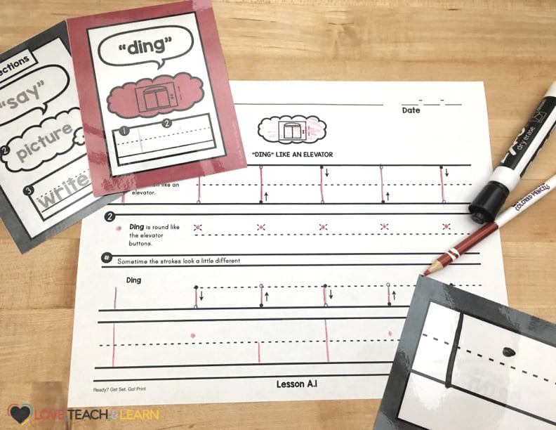 Tracing letter strokes that teach proper letter formation and handwriting skills. Letter stroke flash cards make for a fun review.